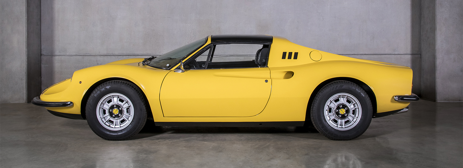 Ferrari Dino 246 GTS Amarela 1974